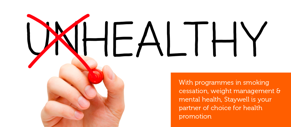 Occupational health services including programmes in smoking cessation, weight management & mental health.